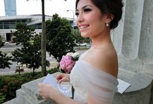 Australian C | Wedding day, Fullerton Hotel by Stephy Ng Makeup and Hair