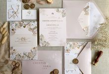 Beige Garden by Trouvaille Invitation