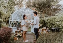 Sunflower Themed Summerhouse Proposal Singapore Proposal Outdoor Surprise by Lily & Co.