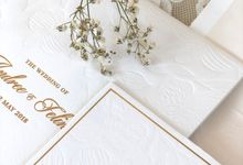 White on White Orchid Invitation by Mille Paperie