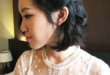 Bridal Short Hair Hairstyles by Sylvia Koh Makeup and Hairstyling