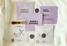 From the wedding of Sarah & Khoiril by Moria Invitation