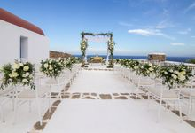 Mykonos wedding in a private villa by Diamond Events
