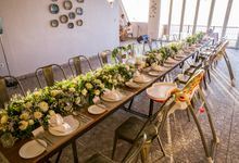 Rustic industrial wedding reception style by Silverdust Decoration by Silverdust Decoration