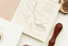 Wedding Invitation Suite by Letters & Olives Co.