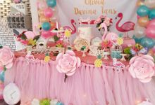 Flamingo 1st birthday party by Mint party decor