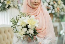 Elegant Wedding Reception by LAKSMI - Kebaya Muslimah & Islamic Bride
