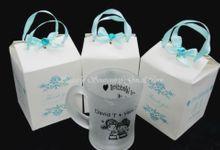 Gelas Bening, Gelas Dove by Sugarly Souvenir