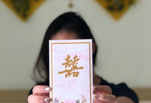 Shuang Xi angpao for Ms. Deviana by Ink & Paper