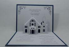 Pop Up Church Invitation by Pop Up Occasions
