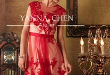 Engagement/ evening gown by YANNA CHEN ATELIER