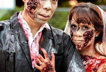 Walking dead inspired prenup shoot  by Irene Sy Go Makeup