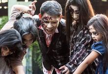 Walking dead inspired prenup shoot  by Irene Sy Go Makeup