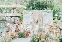 Isaiah & Hazel's intimate pastel garden wedding. by Foreveryday Photography