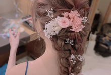 Brial hairstyle by Izzy Makeup Artistry