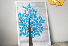 Canvas Guestbook Wedding Artwork (Tree-02) by Bikinseru.aja