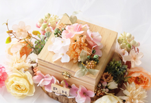 Wooden Square Ring Bearer for Pristy & her partner by Jeestudio Id