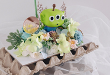 "Fleur Cake ""Greenman"" for Ms. Clarensi by Jeestudio Id"