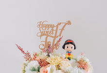 "Fleur Cake ""Snow White"" for Ms. Feli by Jeestudio Id"