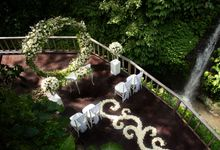 Intimate Wedding Package with waterfall as the Background by The Kayon, Truly Ubud Resort