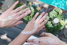 White Henna for Wedding by Nirvana Henna by Shinta