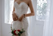 Pronovias Lace Back See Trough Dress by Bee Bridal Center