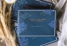 LOLLA & SLAMET (Navy Set Envelope Luxury) by Sanggar Undangan