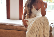 Cotton Crochet Gown by JRW Bridal