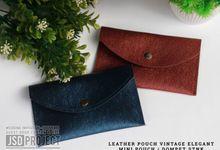 Mini Pouch Leather Vintage Elegant PVC Material Prada Hujan by JSD PROJECT (Invitation Card & Souvenir)