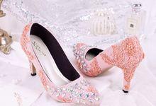 Sepatu Pointed Roslyn Peach by SLIGHTshop.com