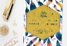 Feathers & Fun by She.Fox Invitations