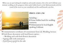 Our Wedding Packages by Lily Wedding Services