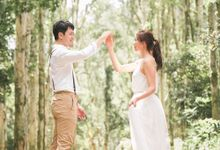 Pre-wedding Shoot in Hong Kong Shing Mun Reservoir by Jen's Obscura (aka Jchan Photography)