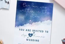 Starry love by She.Fox Invitations