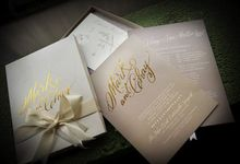 Foil Stamping by Invitation designs by kenneth uy