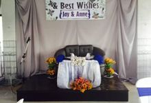 Royal Blue and Silver Wedding by Manny's Event Venue