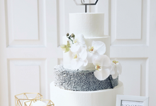 Simply Modern 4 Tiered Wedding Cake by KAIA Cakes & Co.