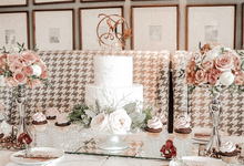 Madeline's Bridal Shower Cake and dessert table by KAIA Cakes & Co.