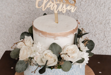 Bridal Shower Cake of Clarisa Lai by KAIA Cakes & Co.