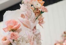 The wedding of Edbert & Priscilia by KAIA Cakes & Co.