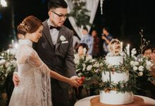 Alfred + Mega Wedding by KAIA Cakes & Co.