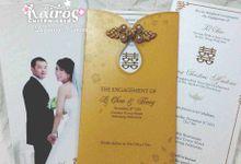 Li Chao & Fenny Engagement by Kairos Wedding Invitation
