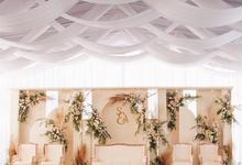Wavy and cloudy sky theme Wedding Reception by Kalea Design