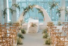 Wavy Minimalism of Fara & Fakhrian Wedding  by Kalea Design