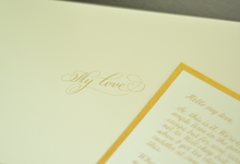 K&V ••• Thank You Notes by Lemonpassion Calligraphy