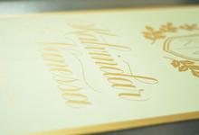 K&V ••• Wedding Sign by Lemonpassion Calligraphy