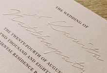 Modern Minimalist invitation by Kanvela