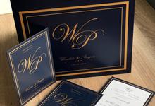 Invitation and stationery set by Kanvela