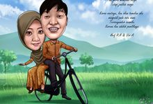 karikatur pre wedding by Karikatur Wedding