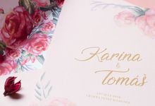 Wedding Invitation Pastel Pink by Kanoo Paper & Gift
